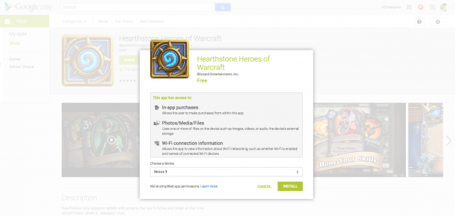 Hearthstone US Android