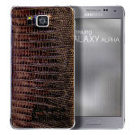 Samsung Galaxy Alpha mochagray leather