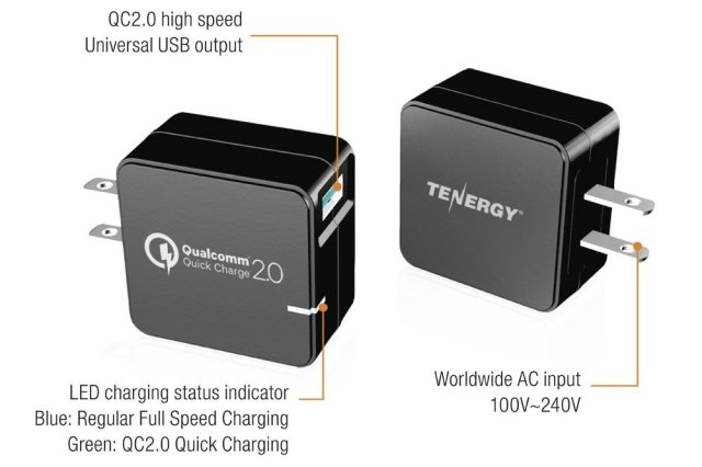 Tenergy Quick Charge 2.0 charger diagram