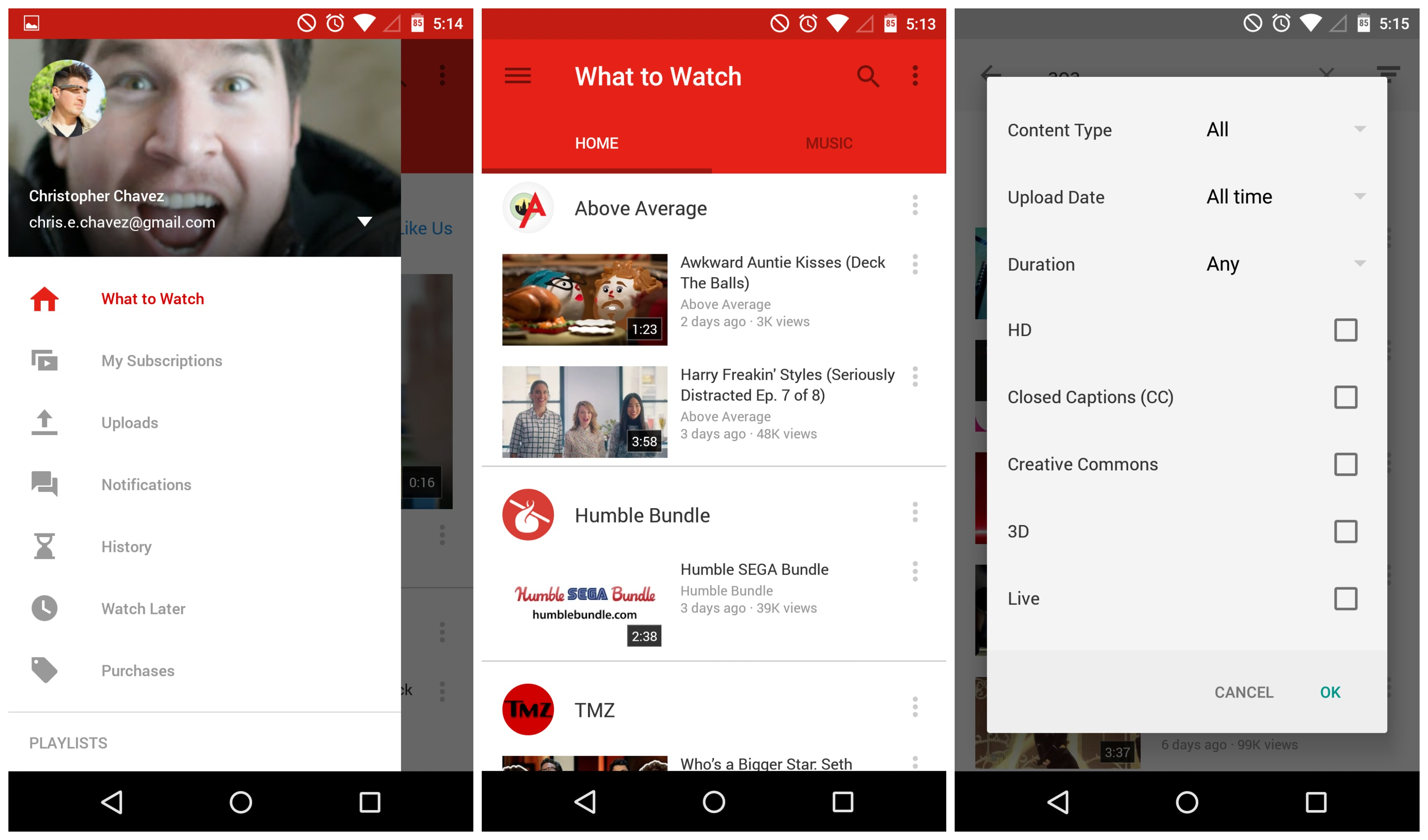 youtube 6.0 material design