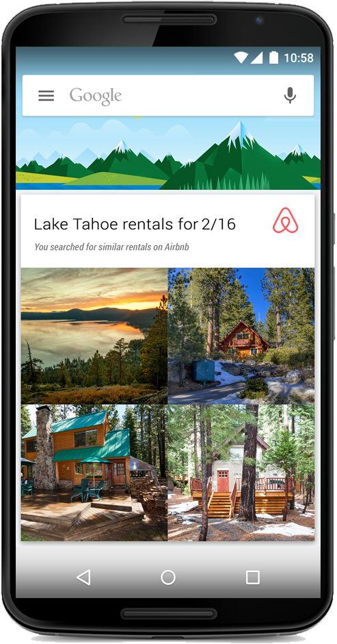 Google Now airbnb card