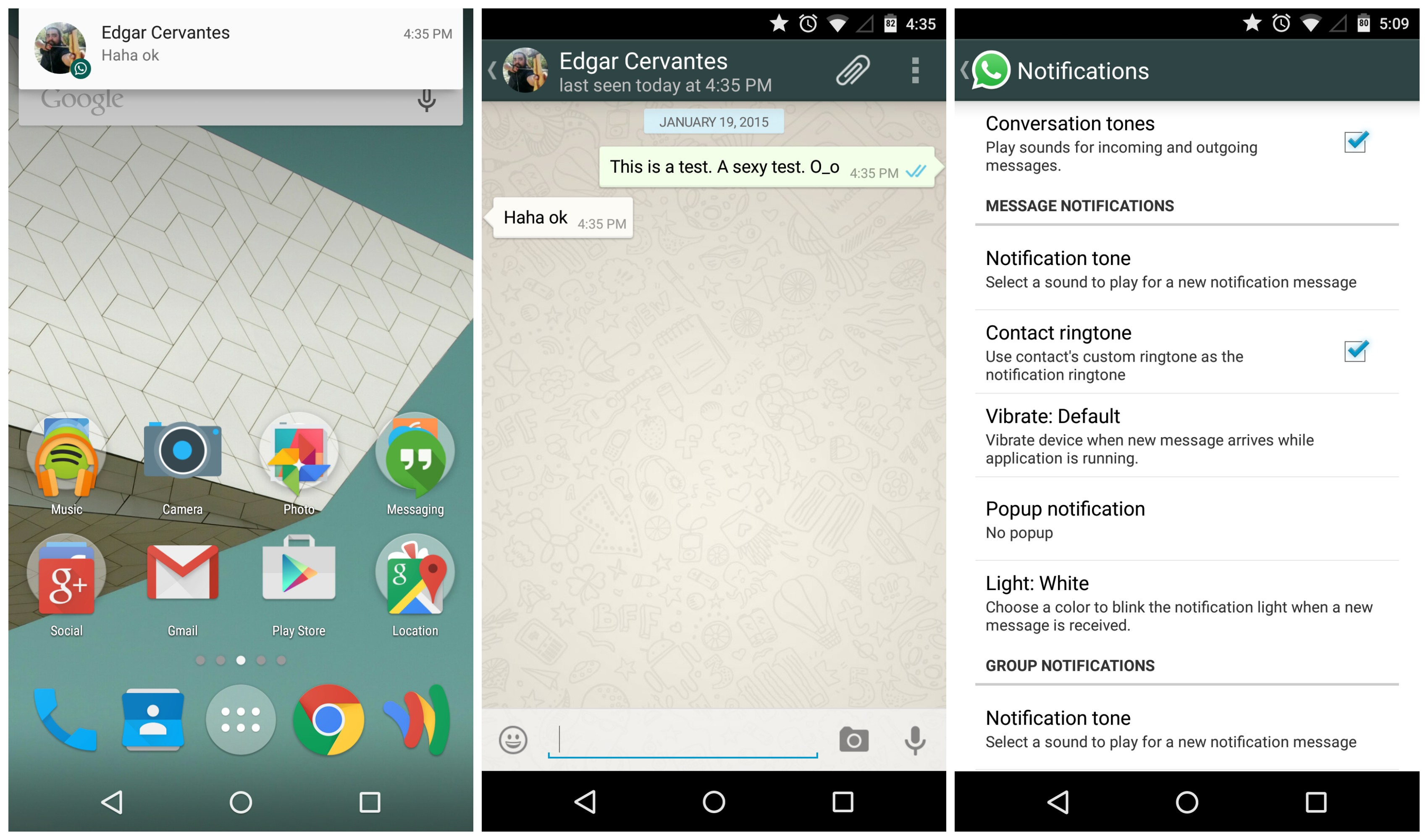 Phone Whatsup For Android Phone whatsapp finally plays nice with android 5 0 lollipops priority notifications