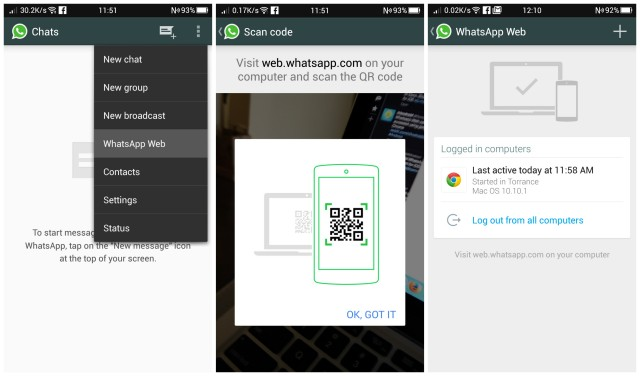 WhatsApp Web Android