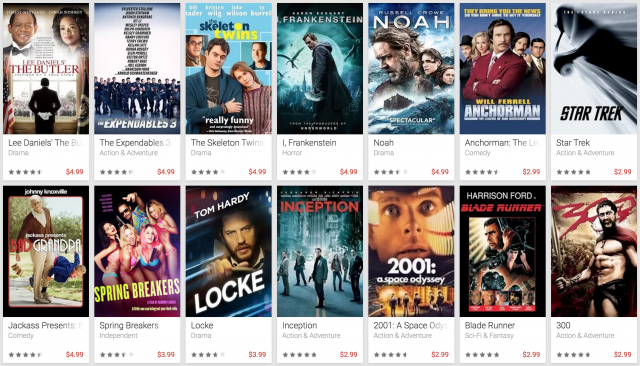 Google Play Movies & TV 5 dollar promo