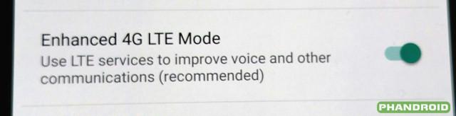 Nexus 6 Android 5.1 Advanced Calling VoLTE
