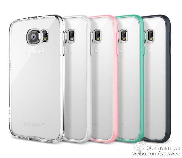 Samsung Galaxy S6 case clear colors