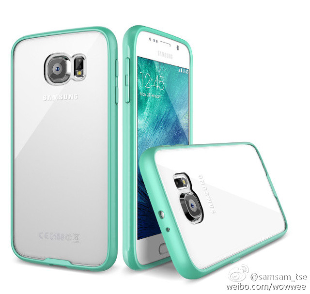 Samsung Galaxy S6 clear case teal