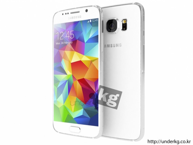 Samsung Galaxy S6 render from leaked schematic 1