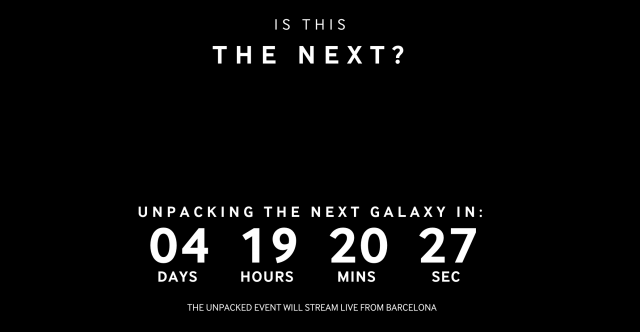 Sasmung Is This The Next countdown