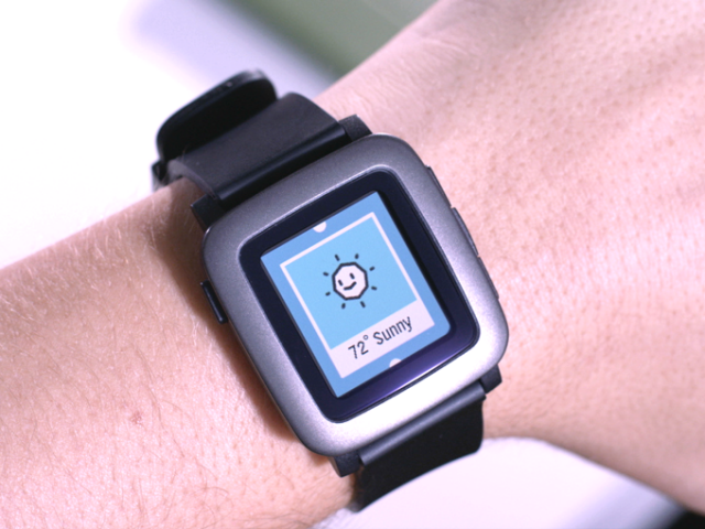 pebble time weather