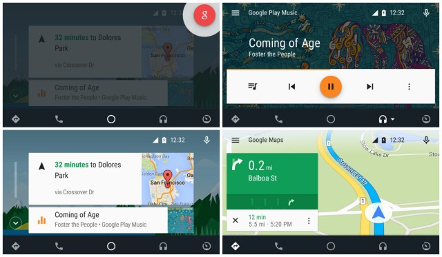 Android Auto app collage