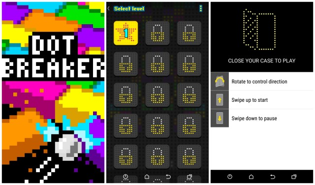 HTC Dot View Breaker game