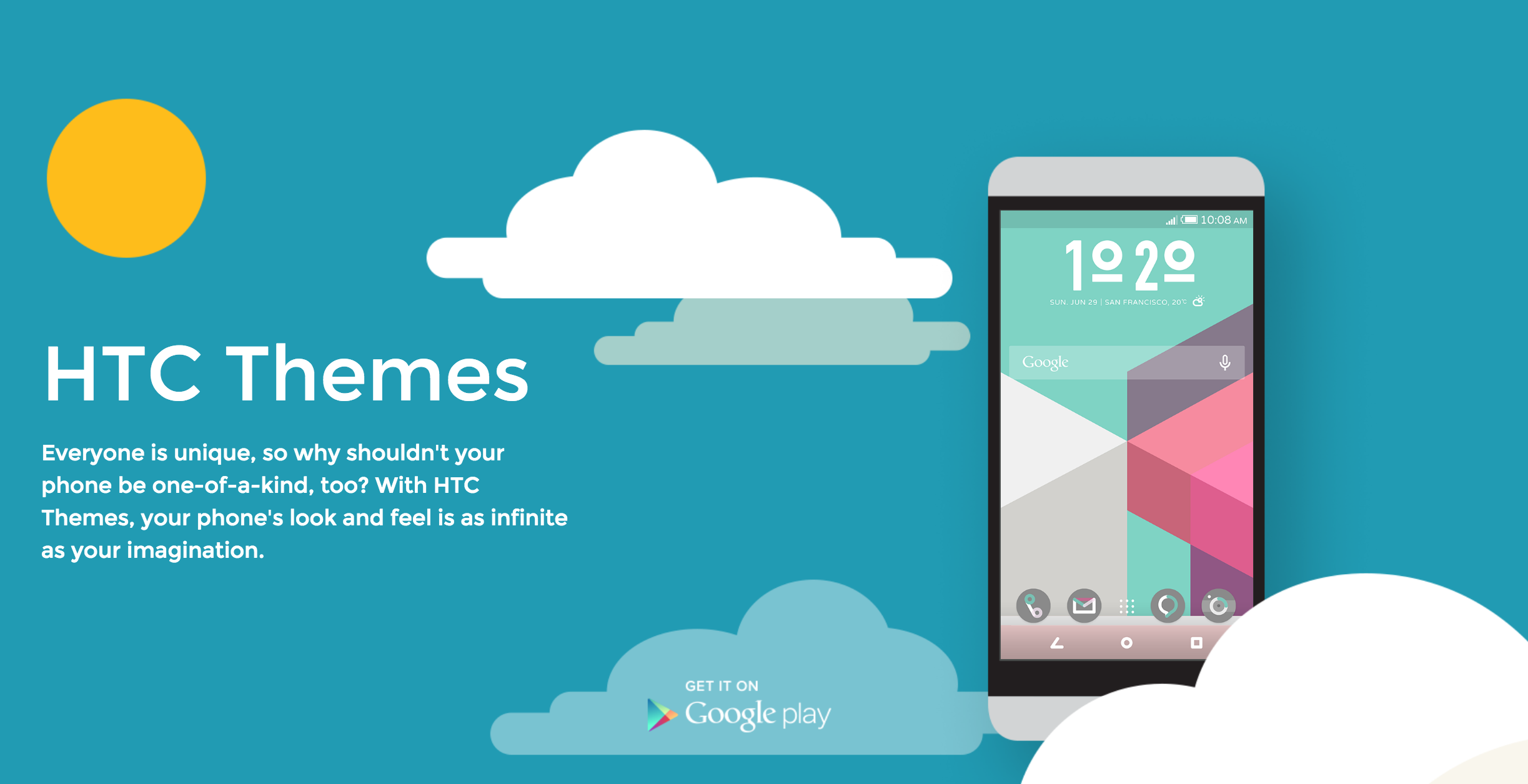 Google themes create your own - Htc Themes Landing
