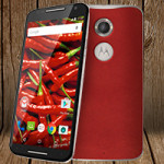 Red Leather Moto X 2nd Gen