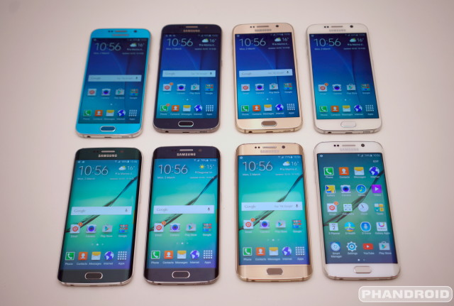 Samsung Galaxy S6 all colors DSC08552