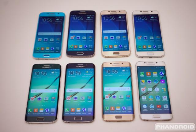 Samsung Galaxy S6 all colors DSC08552