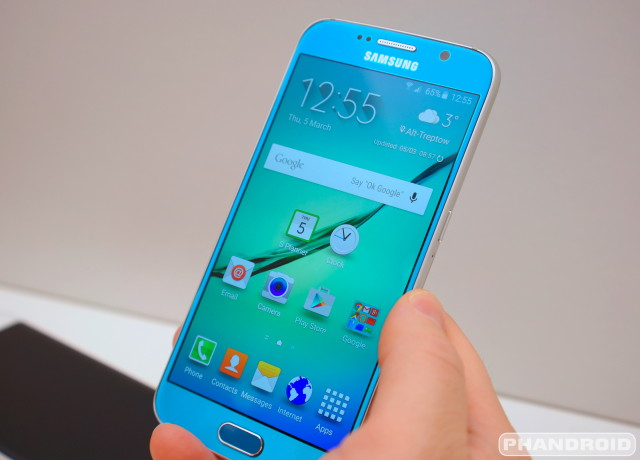 Sasmung Galaxy S6 Calendar Clock app icon DSC08976