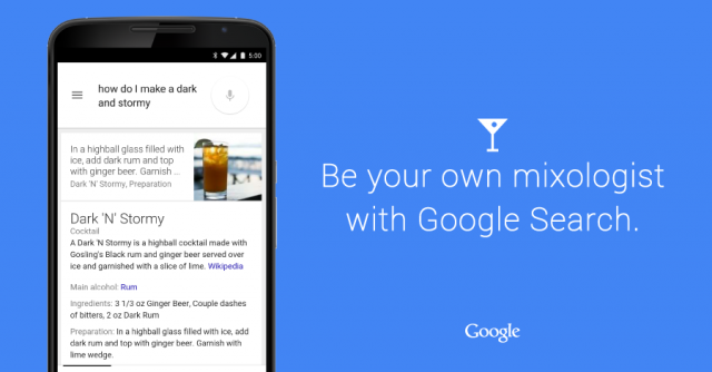 google sarch drink recipes