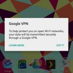 google vpn screenshot