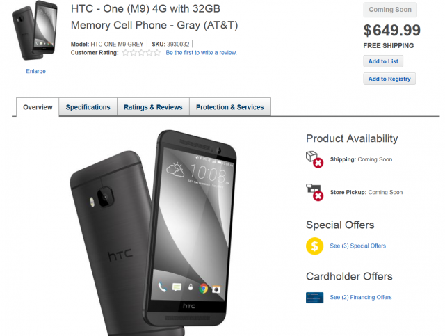 htc one m9 at best buy