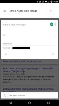 ok google hangouts message