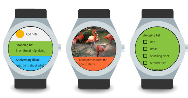 Android Wear Google Keep update