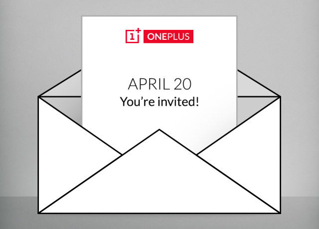 OnePlus event invite announcement April 20th 2015