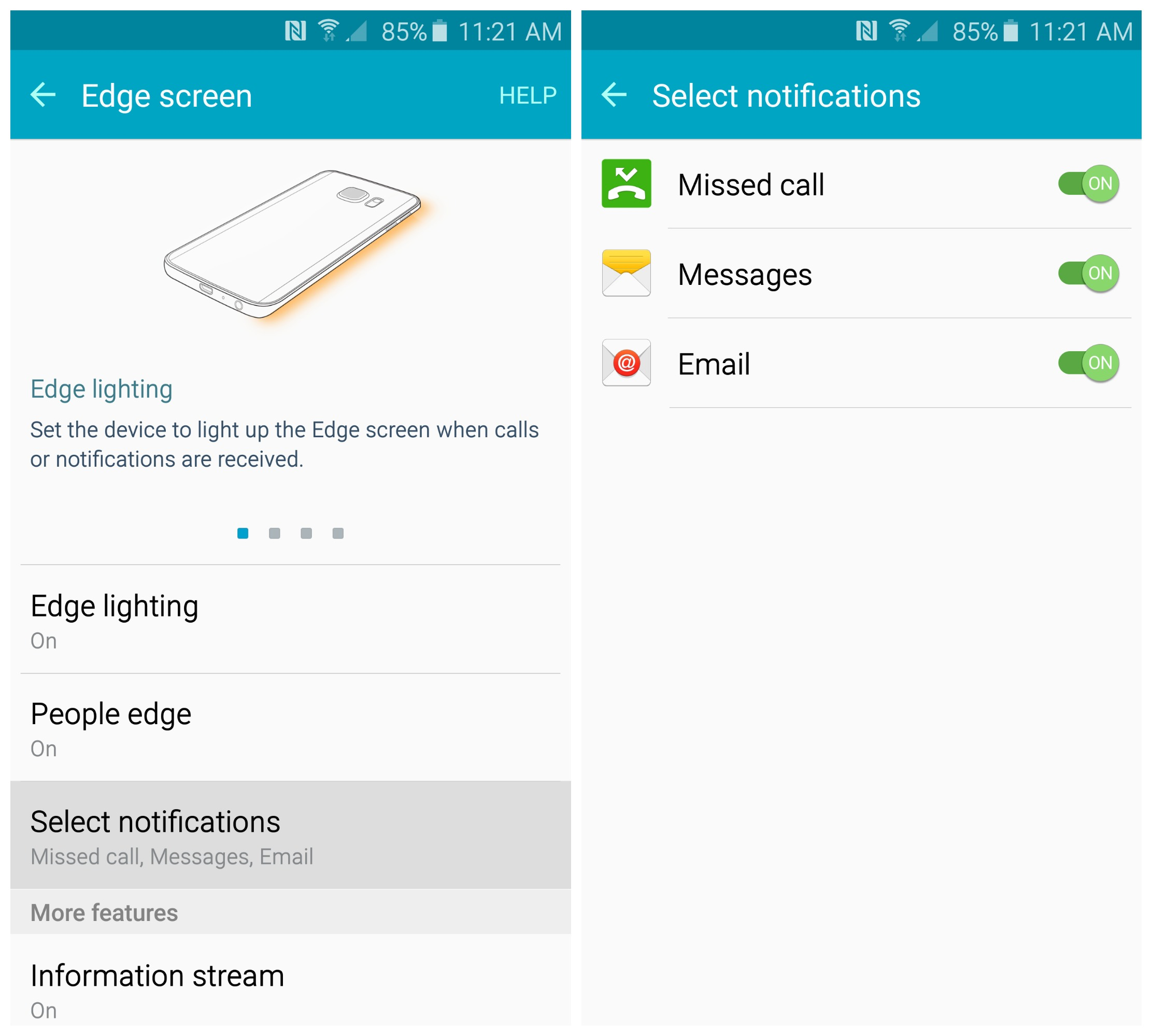 how to change default email on note 5 android