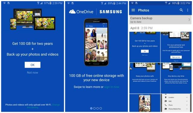 Samsung Galaxy S6 OneDrive promo