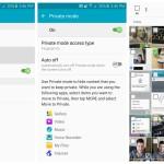 Samsung Galaxy S6 Private mode