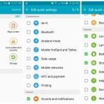 Samsung Galaxy S6 Quick settings