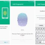 Samsung Galaxy S6 fingerprint setup