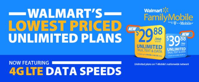 TMobile Walmart Family Mobile plans
