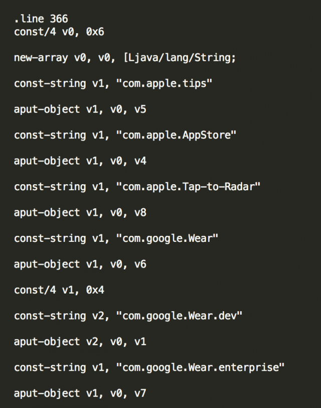 android wear ios screenshot