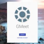 google meetings gmeet