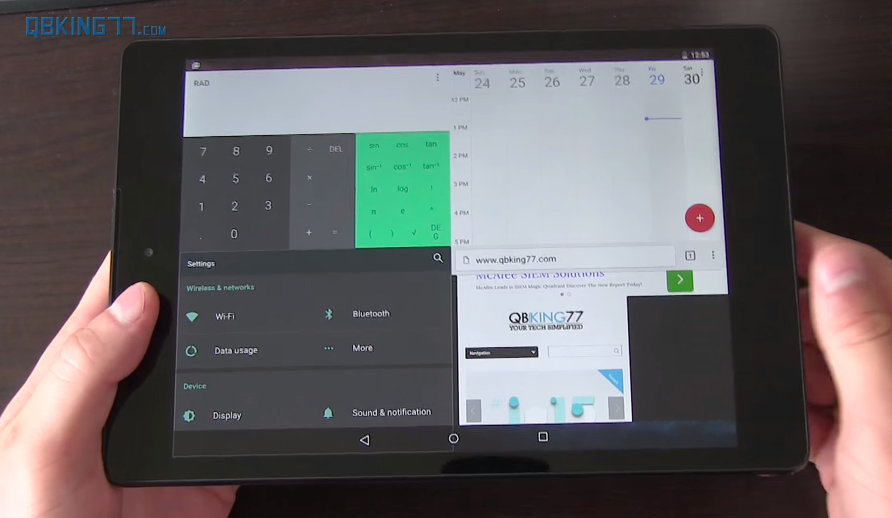 how to leave split screen on android