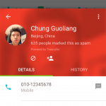 Contact Card - Spam