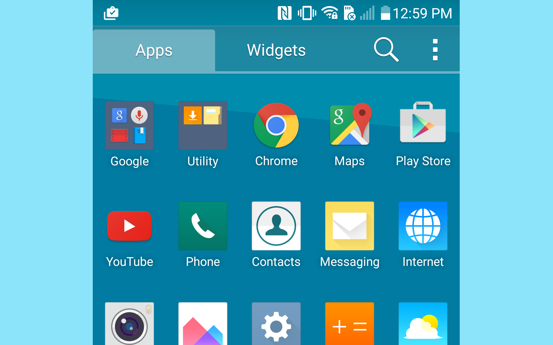 What are some icons on LG phones?