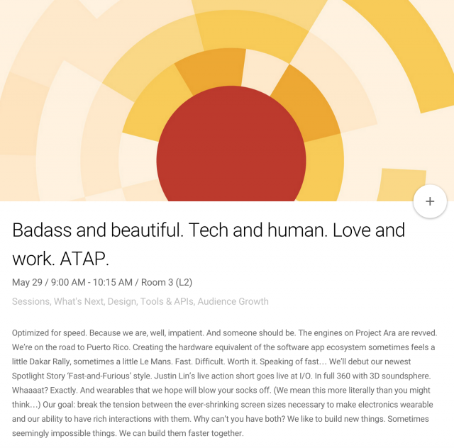 Google IO 2015 ATAP wearable