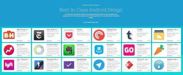 Google Material Design app picks