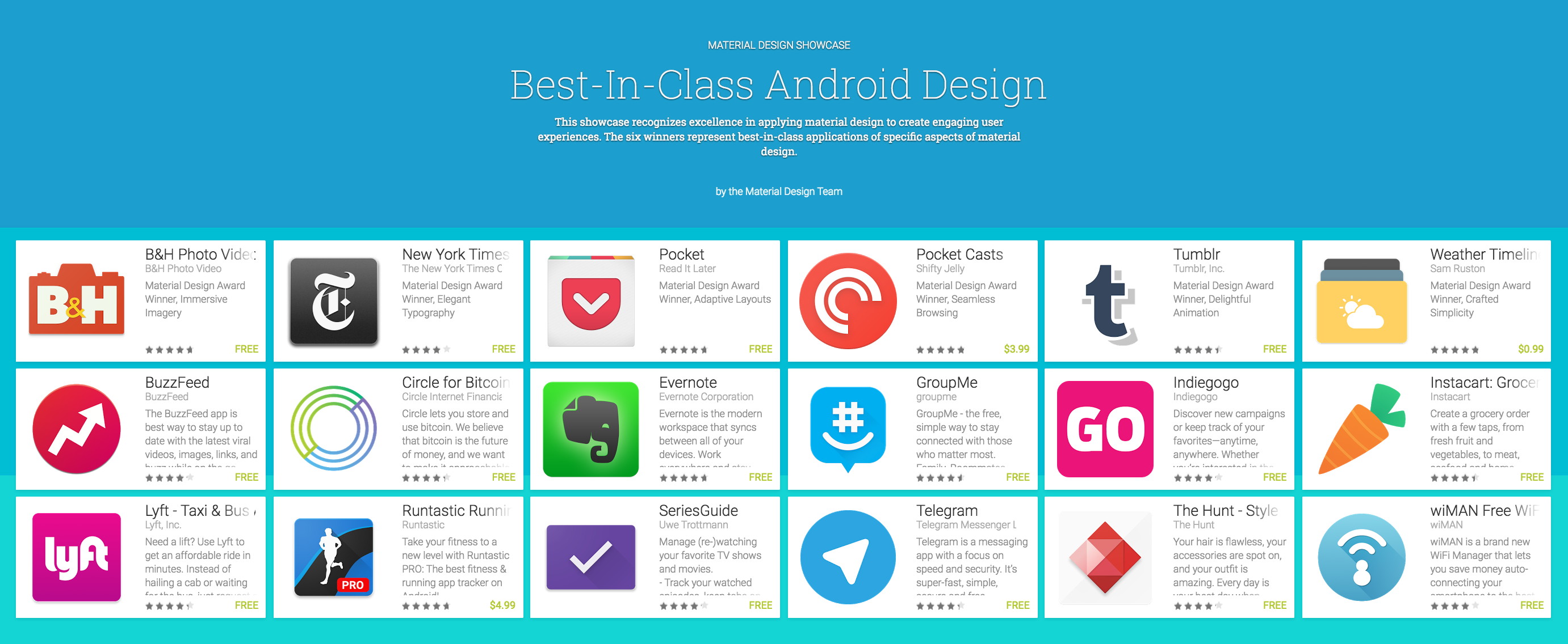 Clixto7 Google Highlights Their Favorite Material Design