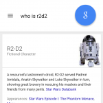 Google app update Star Wars trivia