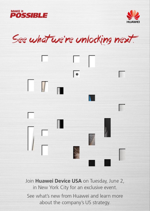 Huawei invite June 2 USA