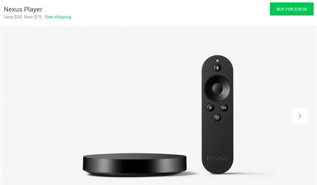Nexus Player now 80 dollars