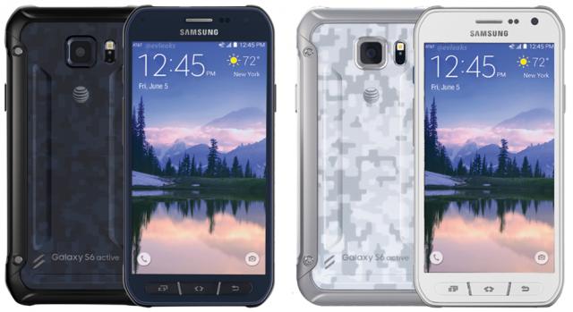 Samsung Galaxy S6 Active black white