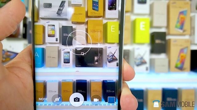 Samsung Galaxy S6 easy exposure controls