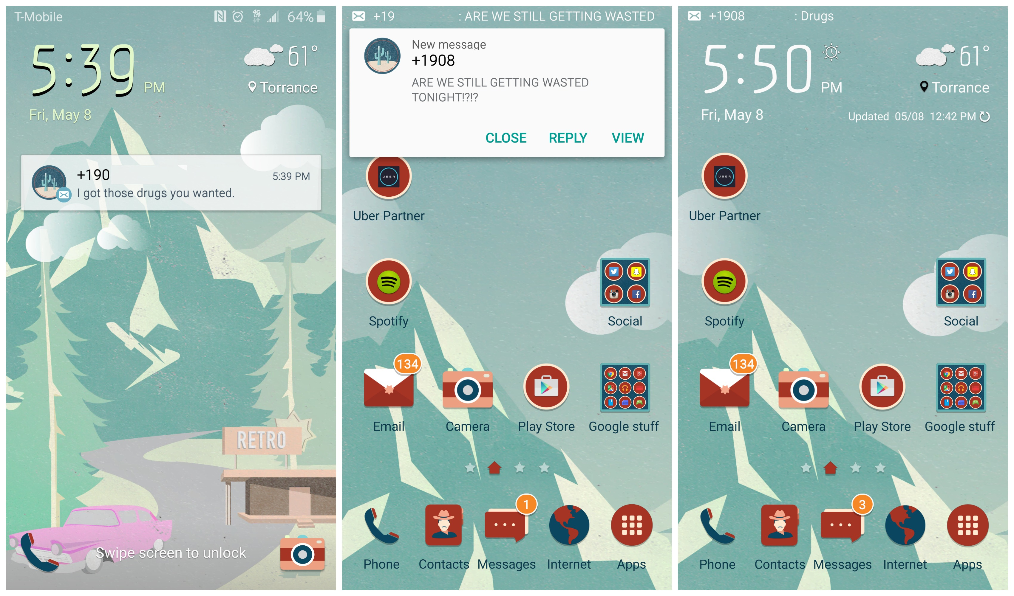 Galaxy S6 and S6 Edge: How to stop text messages from displaying a