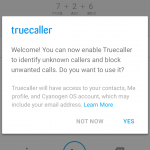 TrueCaller - First Time User Dialog Opt Out