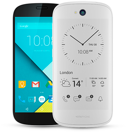 YotaPhone 2 price drop, now comes in white