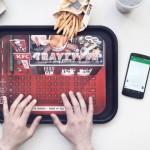 kfc food tray typer